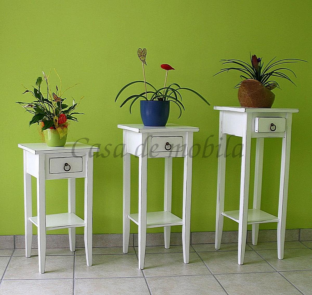 Blumentisch-Set-weiss-antik