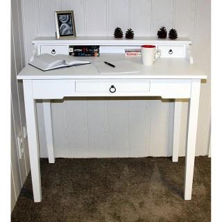Schreibtisch weiß Massivholz 54.1732BOF-7