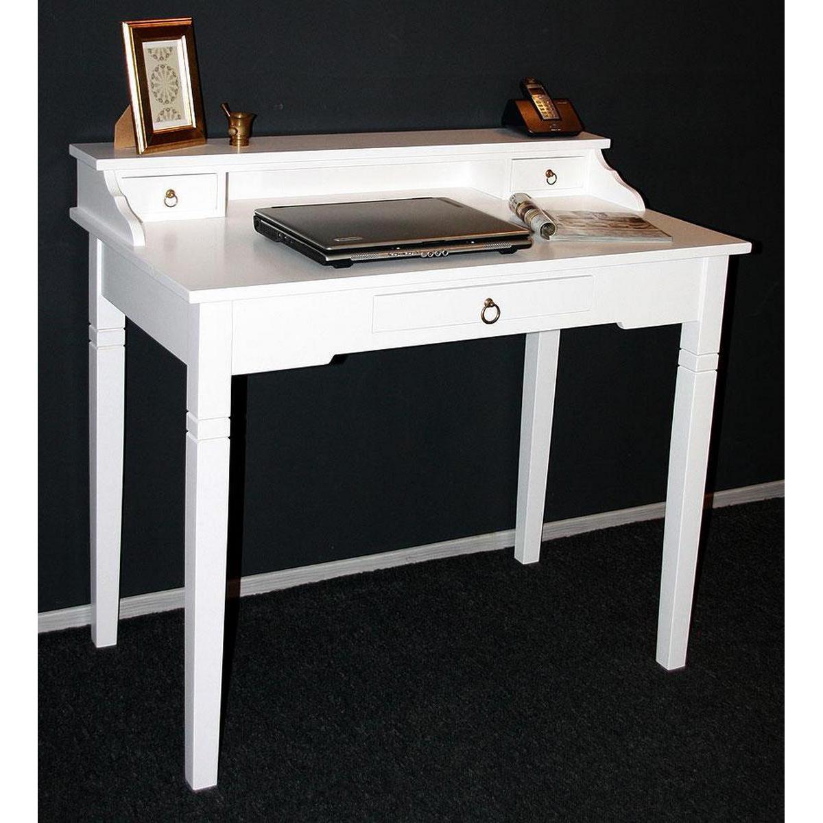 Wei e m bel vollholz italienische m bel von casa de mobila for Schreibtisch 50 x 120