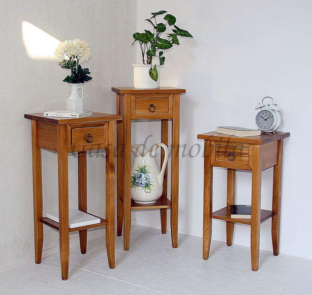 Blumenhocker-Set-Massivholz-honigfarben
