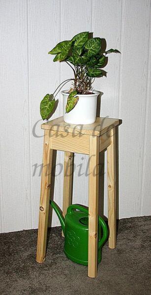 Blumenhocker-natur-lackiert-massiv