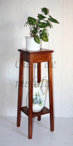 Blumentisch-Arte-Povera-kirschbaumfarben-massiv-80cm-hoch