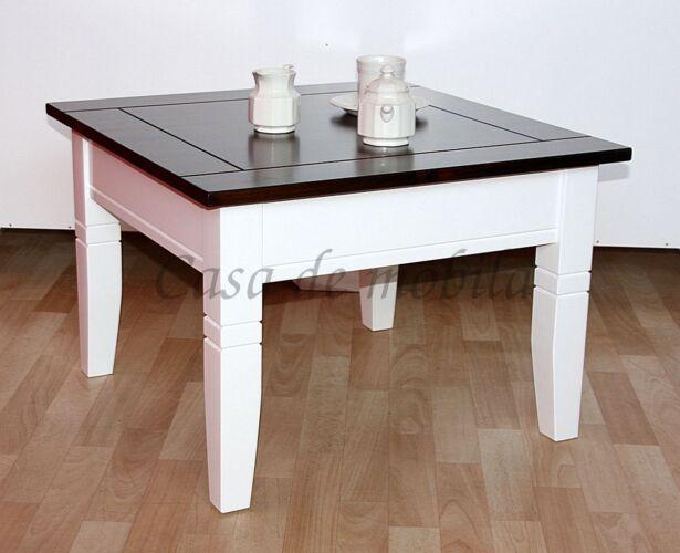 Couchtisch-weisses-Gestell-braune-Tischplatte-Massivholz
