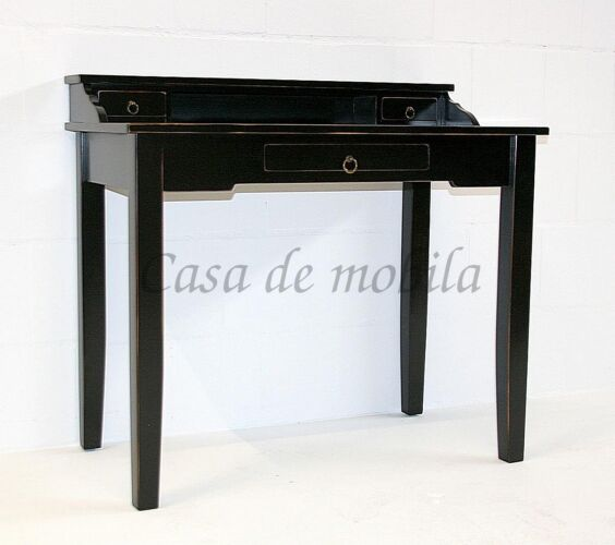 Sekretaer-Massivholz-schwarz-Vintage-shabby-chic