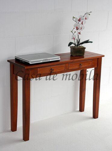 Telefontisch-Massivholz-kirschbaumfarben-mit-2-Schubladen